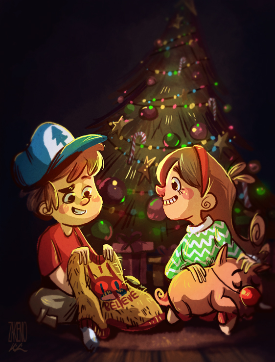 A Very Gravity Falls Christmas by Zakeno