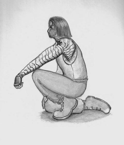 Winter Soldier sketch by KanaGo