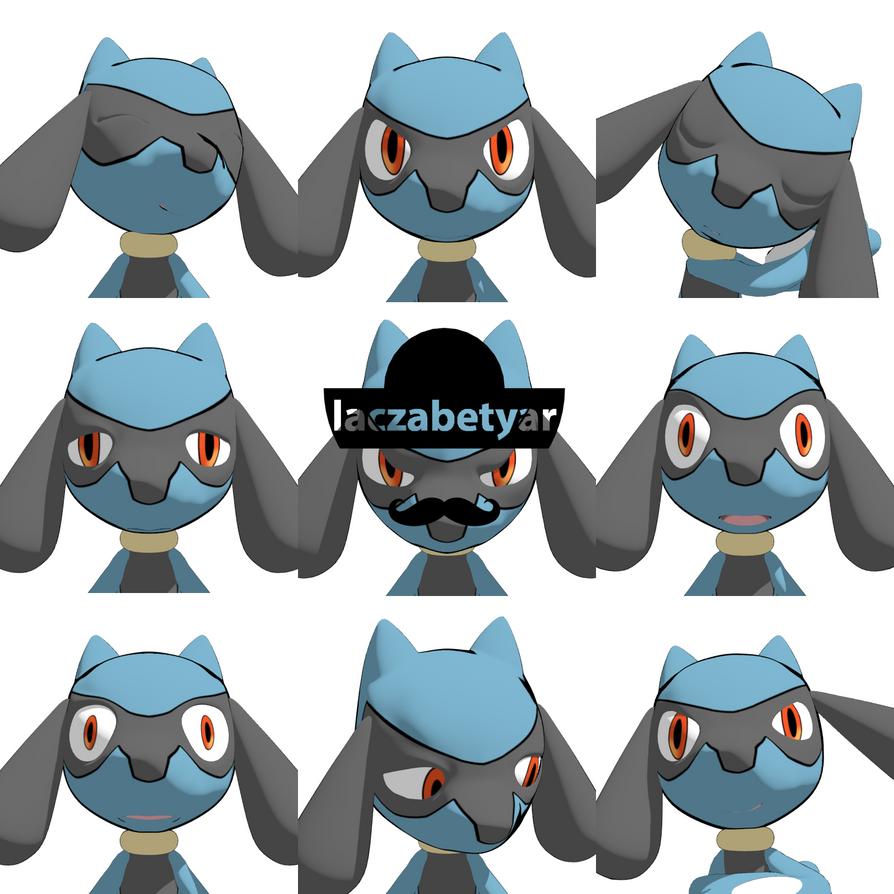 Riolu's Facial Expressions by laczabetyar