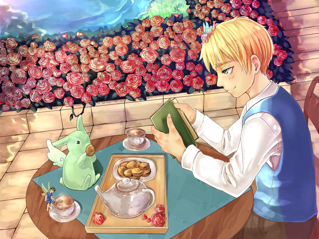 Tea time by Aquaelle