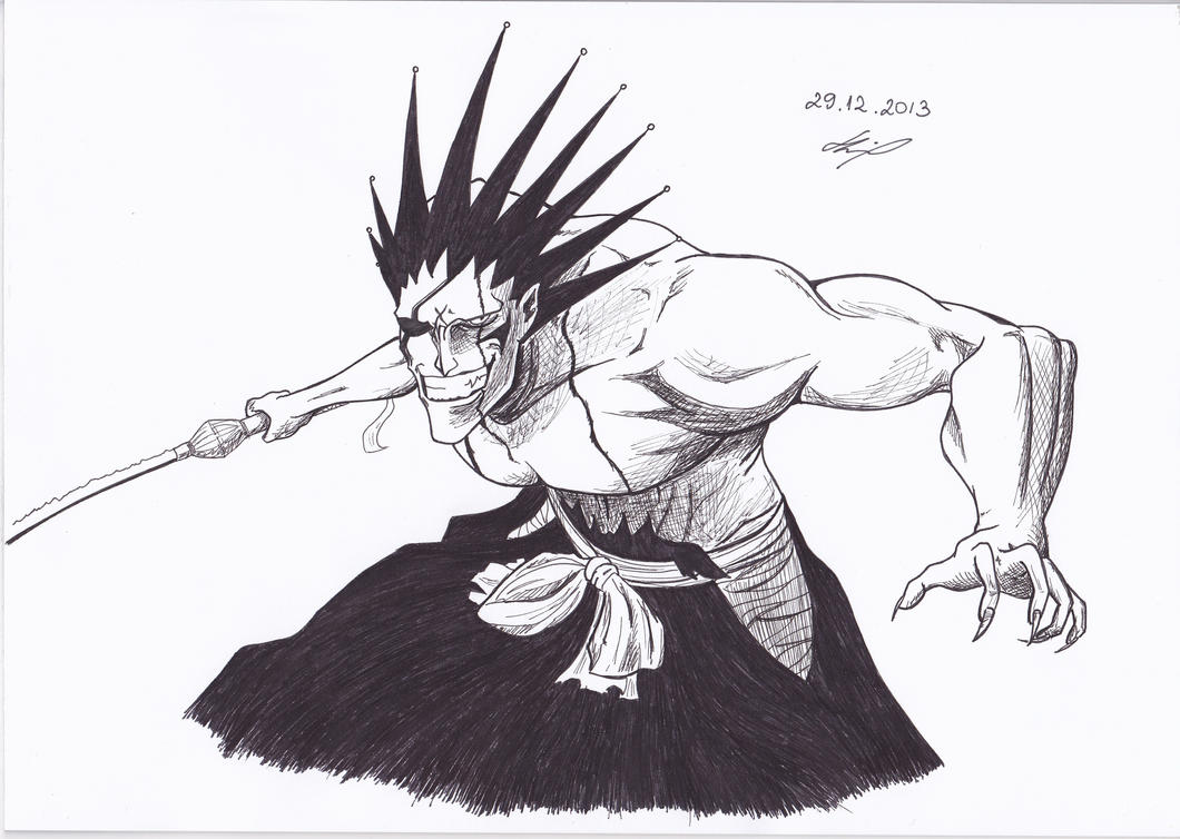 Zaraki Kenpachi Bleach By IAmZuo