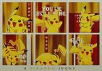 Pikachu Icon Set by KuroTennyo