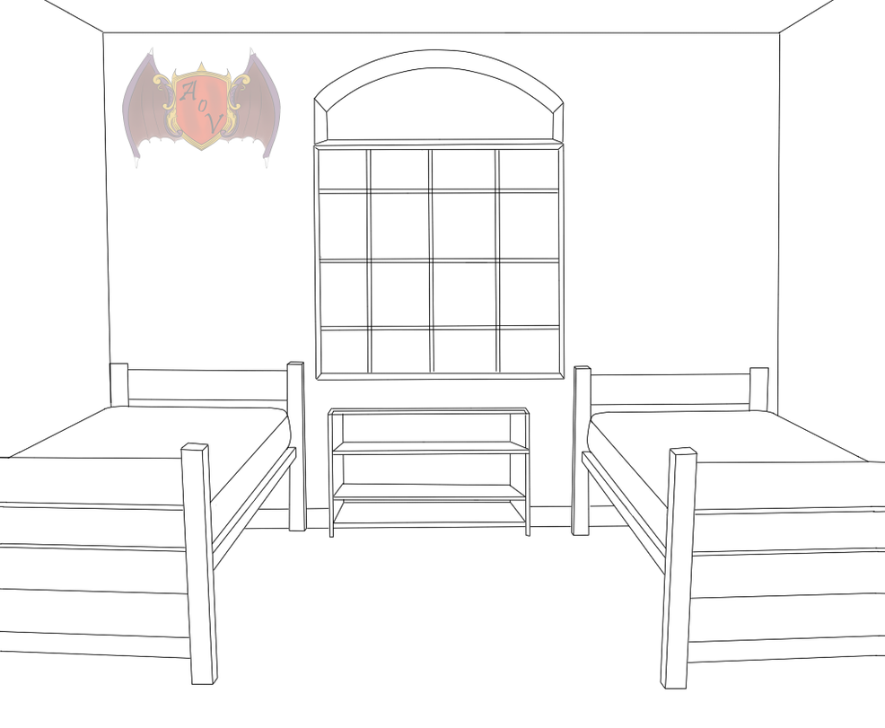 Small And Simple Dorm Room Template By Kikikittykat On