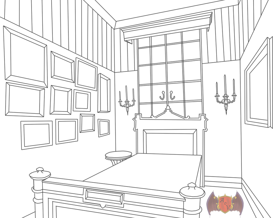 Victorian dorm room template by 0ffin on deviantart for Room design layout templates
