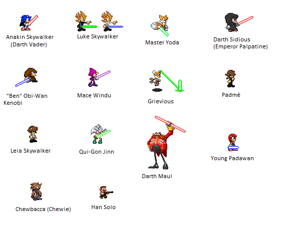 Star Wars Sonic Sprites By Caroll Ann On Deviantart