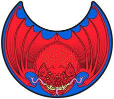 Crimson Bat Pelta by Arkat-Kingtrollkin