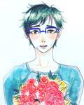 Drawcember 2016- Day 21: Katsuki Yuri by Rueclair