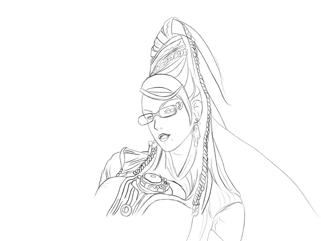 Bayonetta Sketch - preview by jackal0199