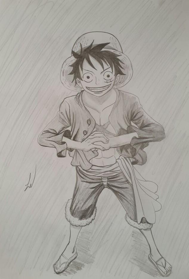 Luffy's fan art by jackal0199