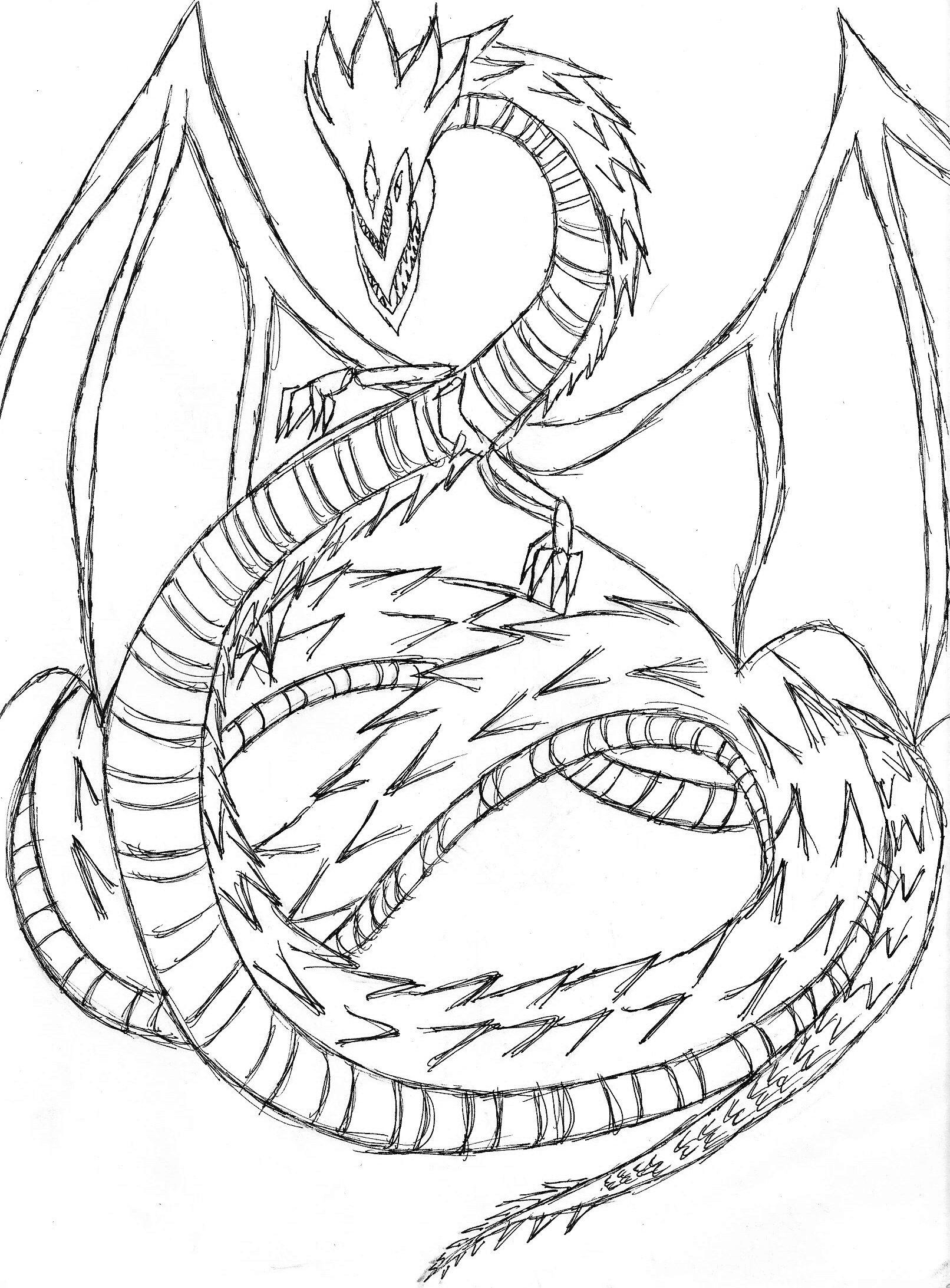 Slifer The Sky Dragon Coloring