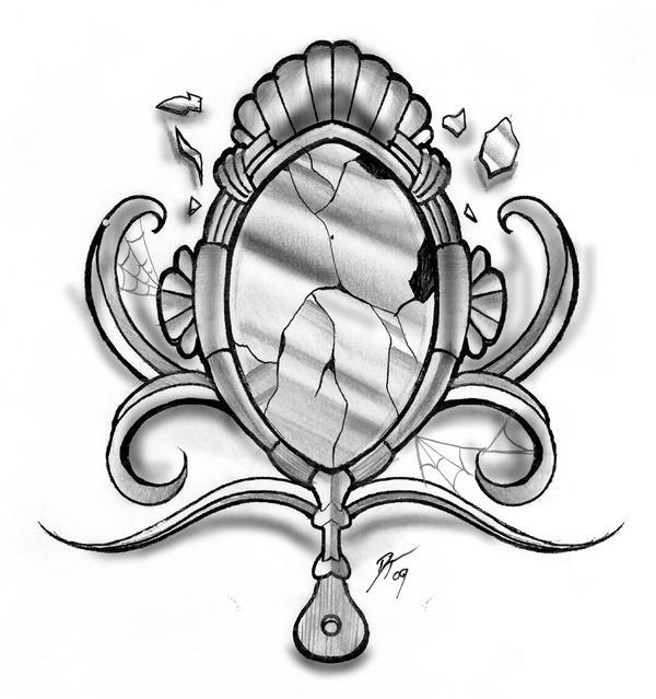 Broken mirror by e nigmadesign on deviantart for Mirror drawing