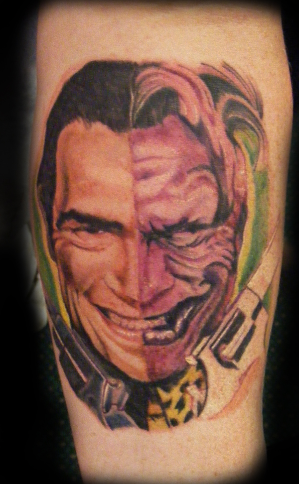 Two face by e nigmadesign on deviantart for Two faced tattoo
