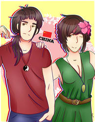 The Wang Siblings- Yao and Chun-Yan by Tavinessa