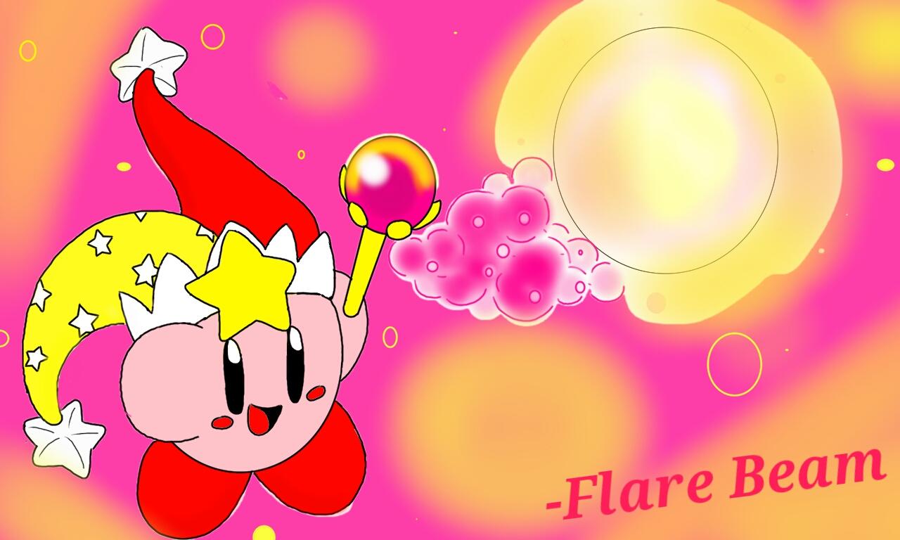 Flare Beam Kirby by kirbyfan88 on DeviantArt