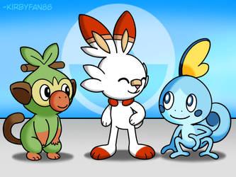 Pokemon Gen 8 Starters by kirbyfan88