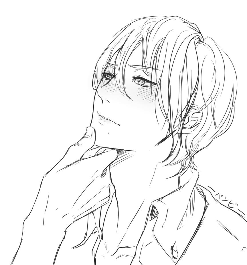 Embarrassed Boy by satoo-yuki