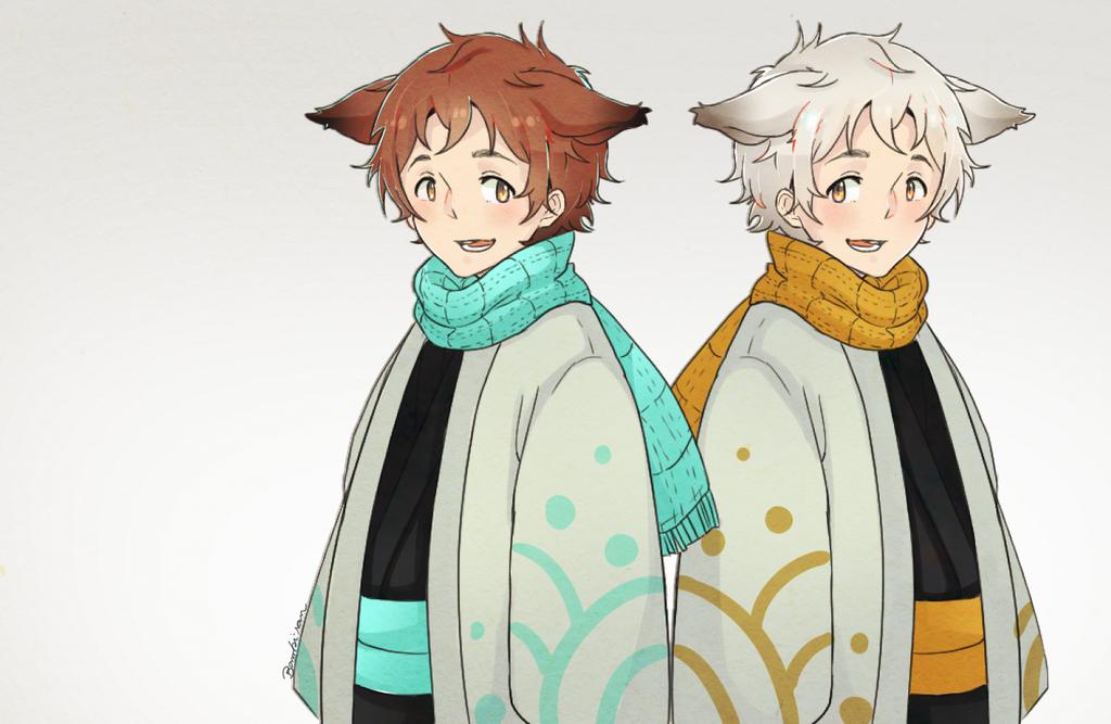 Fox Twins by satoo-yuki