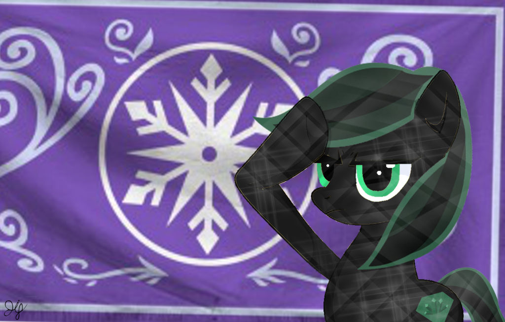 Crystal thorn salutes the Crystal Empire by Mlp-Antasma-Beat