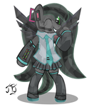 Hatsune Obsidiku (Mlp style) Vocaloid