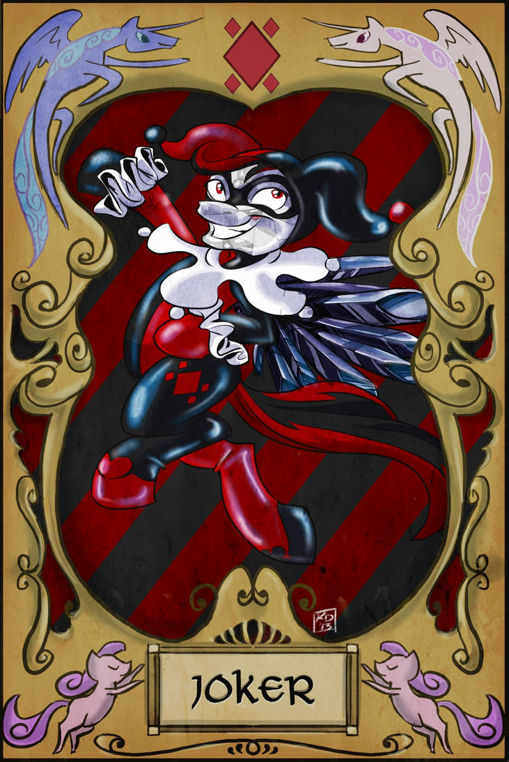 Obsidian Quinn The Joker Card by Android-21-Midnight on ...