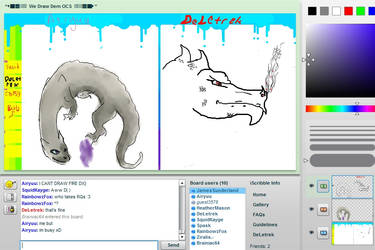 DeLetrek collab on iScribble by Darkond2100