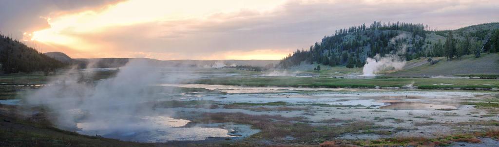 Yellowstone Sunset by Bawwomick