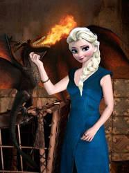 Elsa - Daenerys Targaryen by JOSGUI