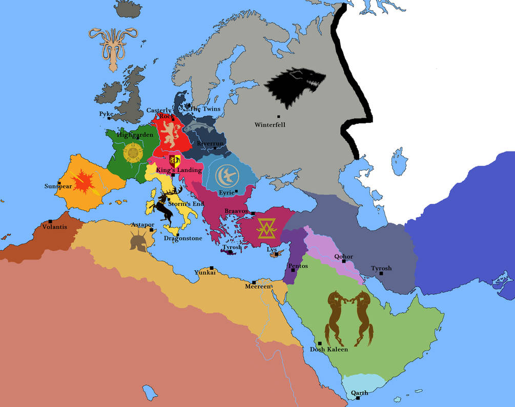 Game of Thrones in Europe by JOSGUI