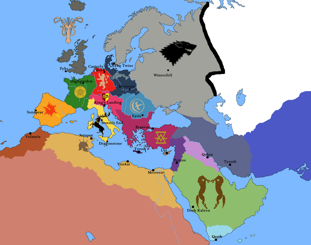Game of Thrones in Europe by JOSGUI