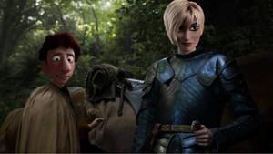 Brienne and Podrick by JOSGUI