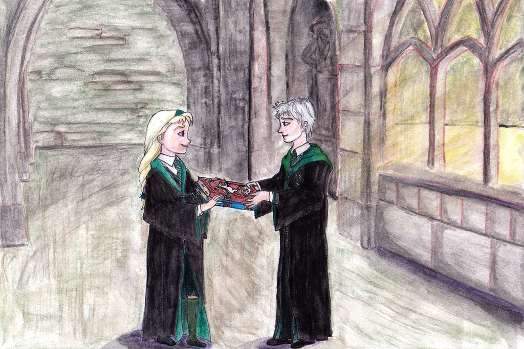 Jack meets Elsa in Hogwarts by JOSGUI