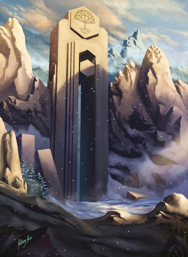 Dwarven Gate by AnthonyAvon