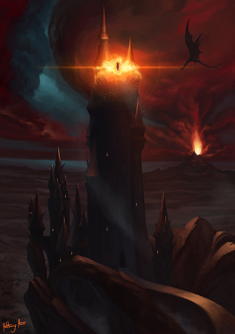 The Fortress Of Barad Dur Mordor By Anthonyavon On Deviantart