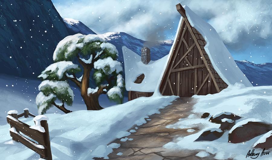 Mountain Cabin by AnthonyAvon