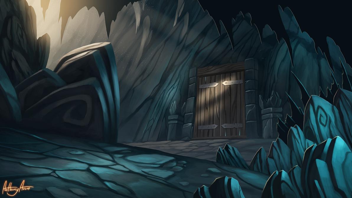 Dragon's cave entrance by AnthonyAvon