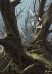 Five Doves by AnthonyAvon