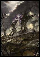 MTG Swamp Fan Art by AnthonyAvon