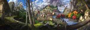 Dwarven settlement by AnthonyAvon