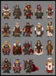 Dwarf characters concept art