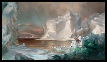 The Icebergs Frederic Edwin Church Study