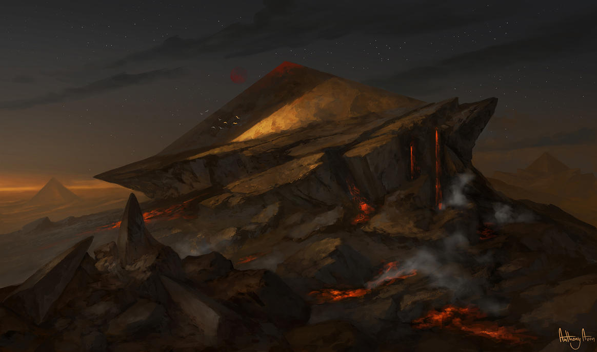 Amonkhet Mountains Fan Art by AnthonyAvon