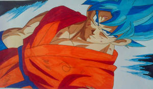 Goku Super Saiyan Blue by Daisuke-Dragneel