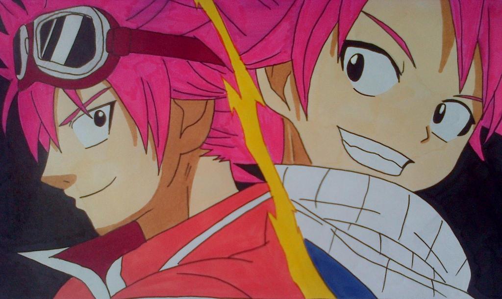 Natsu and Edo Natsu by Daisuke-Dragneel