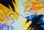 Goku VS Trunks by Daisuke-Dragneel