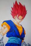 Vegetto Super Saiyan God by Daisuke-Dragneel