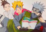 Kakashi, Boruto and Shikadai