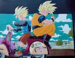 Goku and Gohan (cell arc)