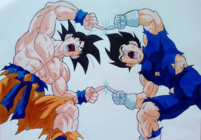 Goku and Vegeta Fusion Pose - AniMay 2021 Day 14