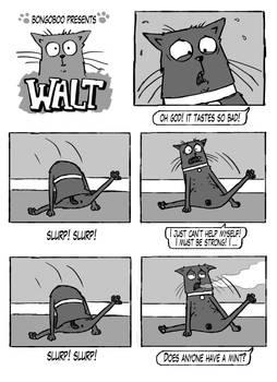 Walt the Cat - Tastes so bad!