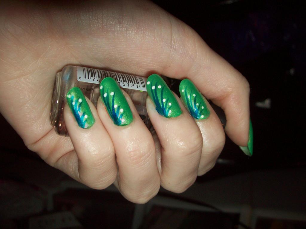 Green Fancy nails by jenna-daydreamer93 on DeviantArt